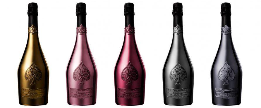 Armand de Brignac flaskor
